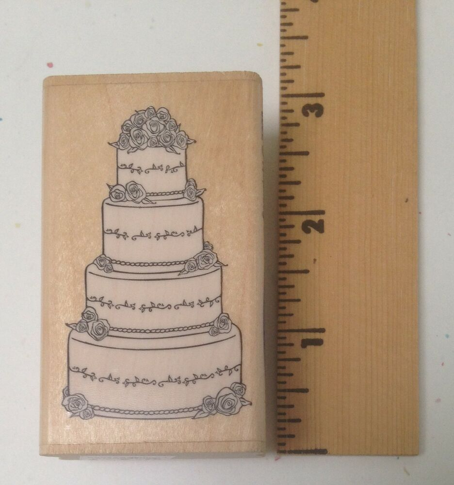 wedding cake stamp stampabilities rubber stamp wedding cake fr1025 new 25599