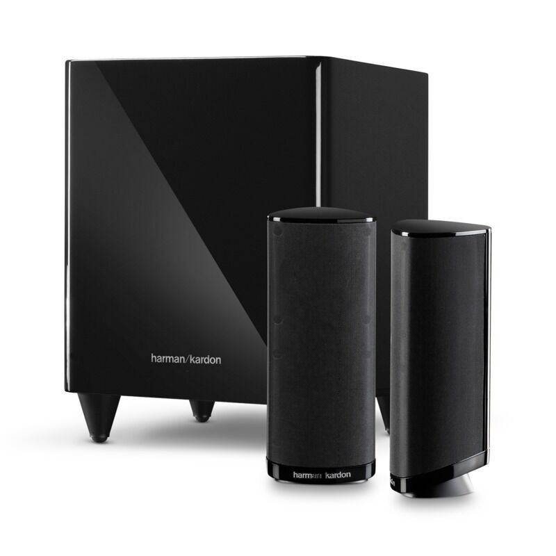 harman kardon hkts 2mkii 2 1 home theater speaker system. Black Bedroom Furniture Sets. Home Design Ideas