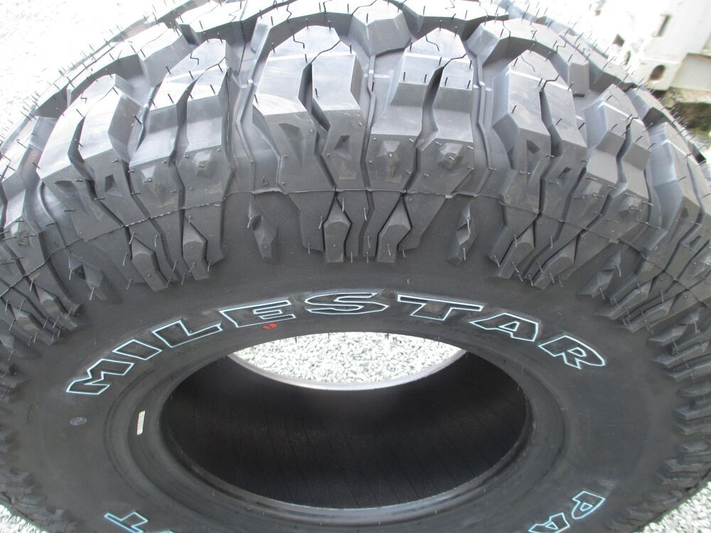 4 New 33x12.50R15 Milestar Mud Tires 33125015 33 12.50 15