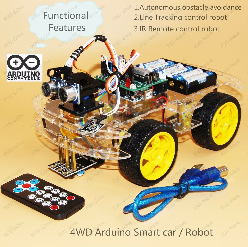 Wd arduino smart car robot starter kit programmable