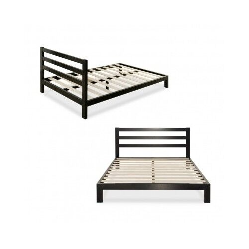 Metal bed frame twin queen full king size mattress for Twin bed frame with mattress
