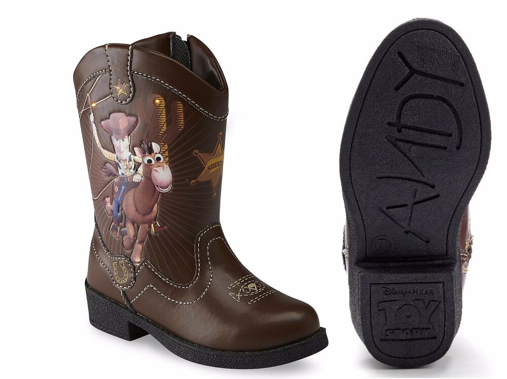 Toy Story Boots For Boys : Disney toy story woody boys light up cowboy boots size