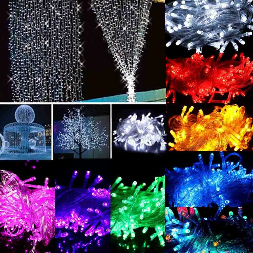10M 100 LED Christmas Wedding Xmas Party Decor Outdoor Fairy String Light Lamp eBay