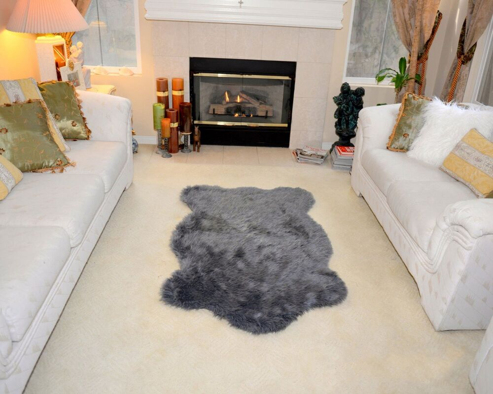 Faux Fur Sheepskin Area Rug Flokati Shaggy Rug 2 X 3 Sheep