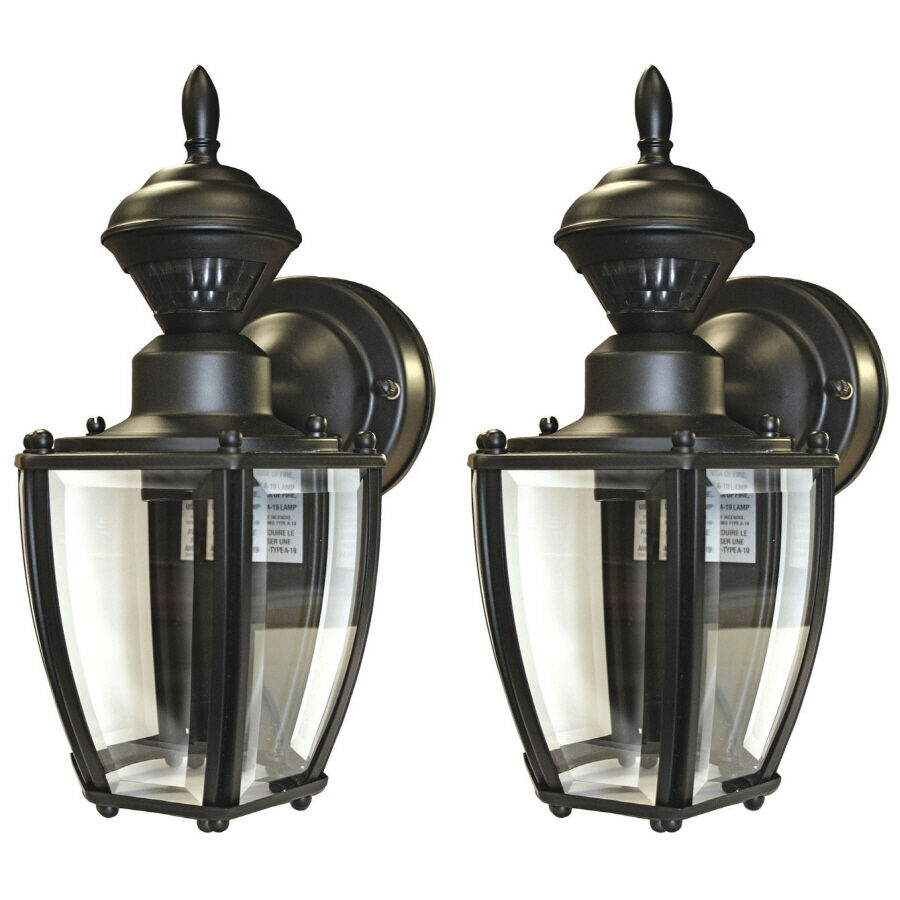 Wall Pack Lights Lowes : Secure Home 2-Pack 11-in Black Motion Activated Outdoor Wall Light eBay
