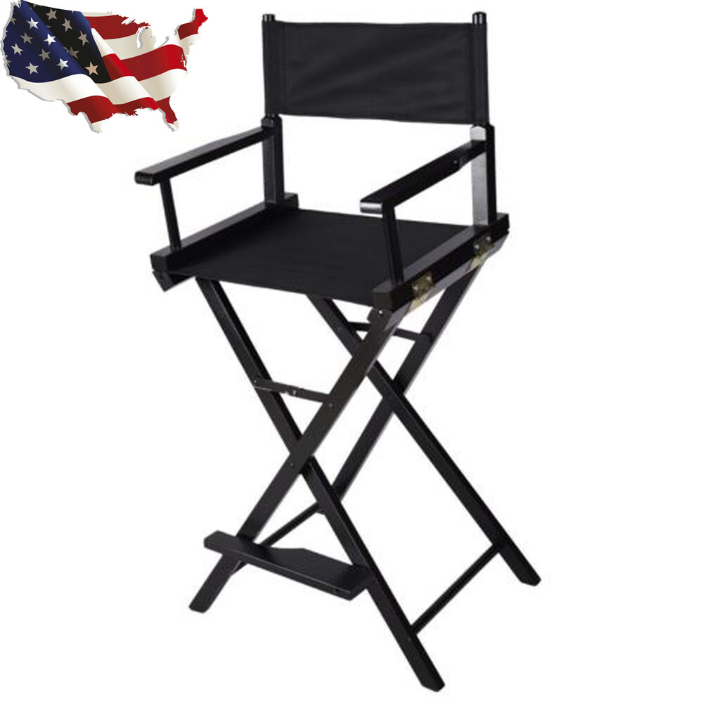 Details about Professional Makeup Artist Directors Chair Wood Light Weight And Foldable Black  sc 1 st  eBay & Professional Makeup Artist Directors Chair Wood Light Weight And ...