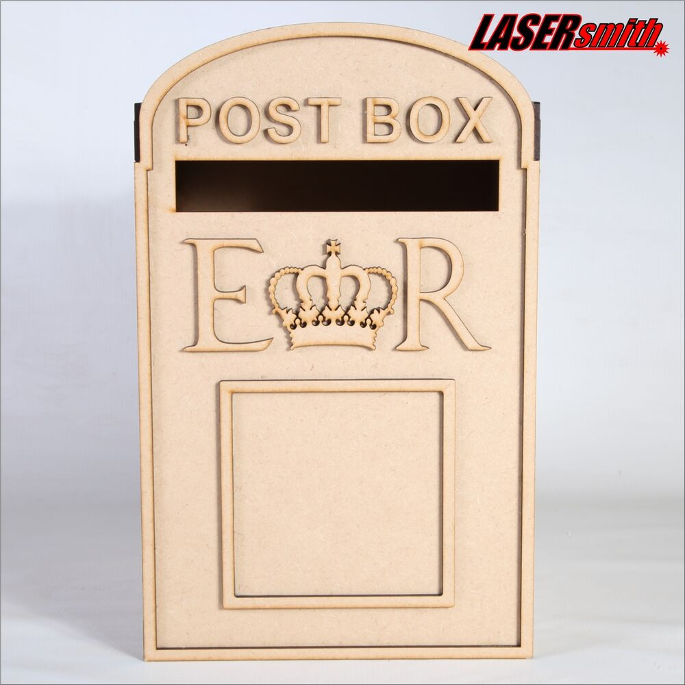 Wedding Gift Post Boxes For Cards: Wedding Post Box, Royal Mail Styled, Flat Pack, Unpainted