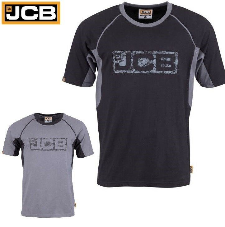 Mens quality jcb crew neck t shirt short sleeve polo for Best quality polo shirts for men