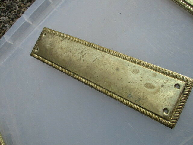 Vintage Brass Finger Plate Push Door Handle Architectural