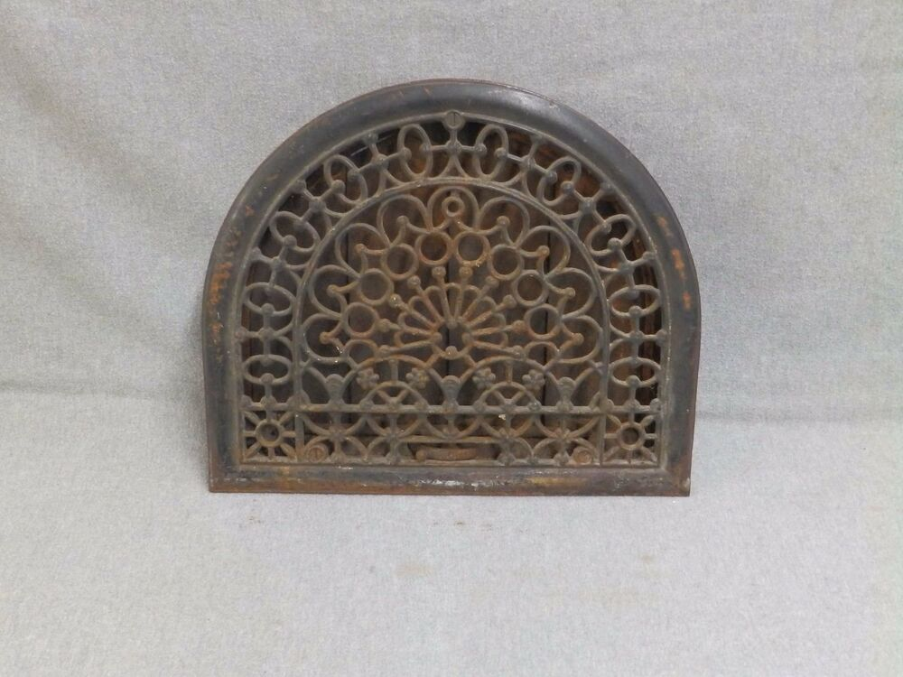 Antique Cast Iron Arch Top Dome Heat Grate Wall Register