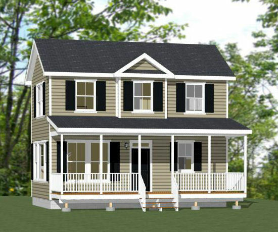 28x16 tiny house 2 bedroom 813 sq ft pdf floor for Two bedroom house plans pdf
