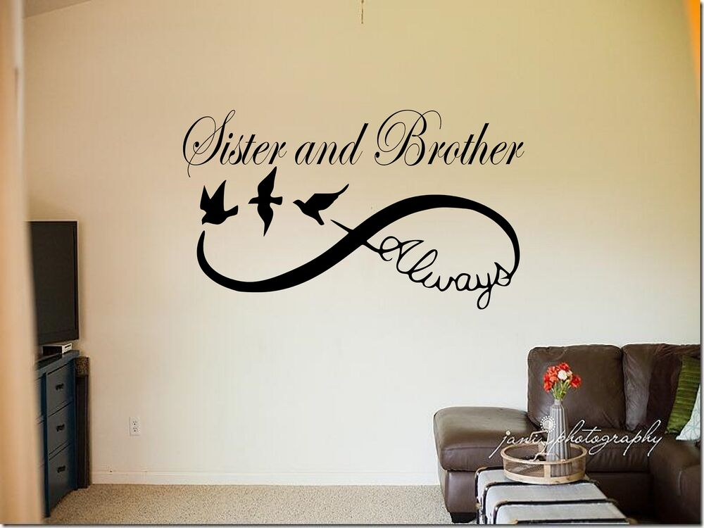 Personalised Sister And Brother Always Infinity Vinyl Wall Sticker