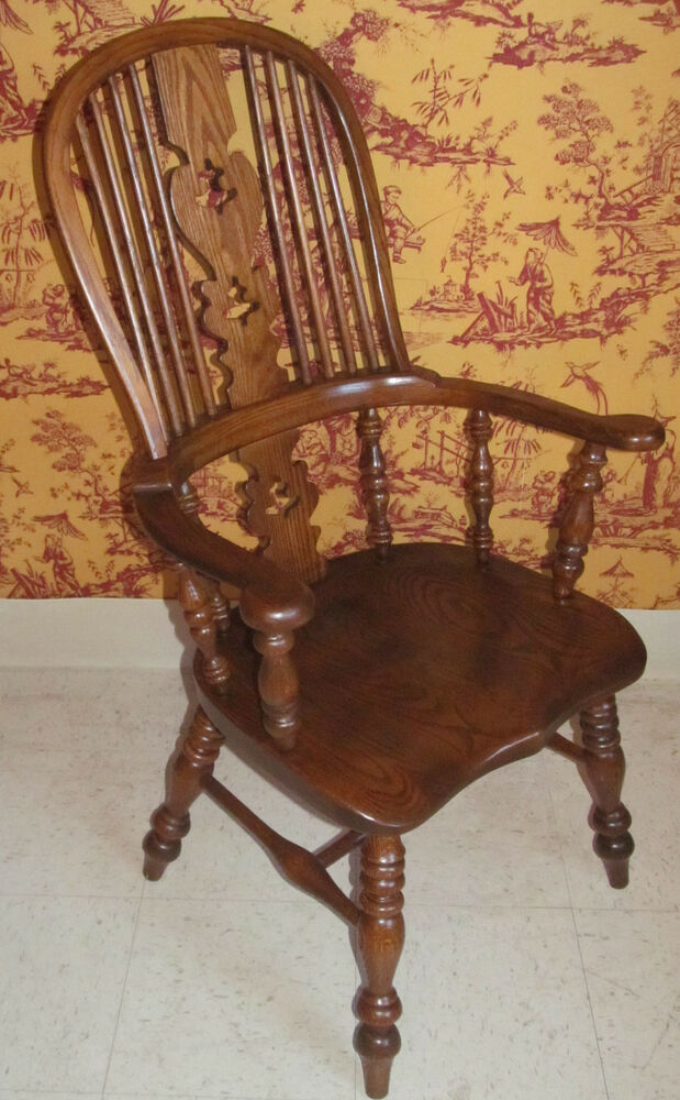 oak dining chairs with arms conant oak bowback dining room arm chair ebay 7127