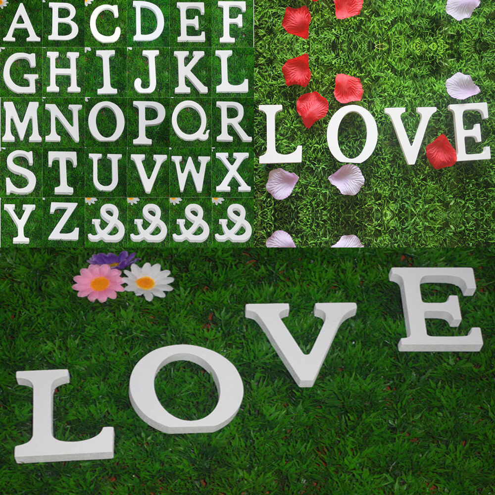 Large 26 wooden alphabet letters wall hanging nursery for Alphabet decoration