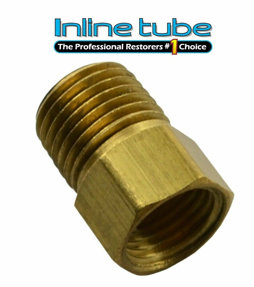 Npt male inverted flare brass adapter