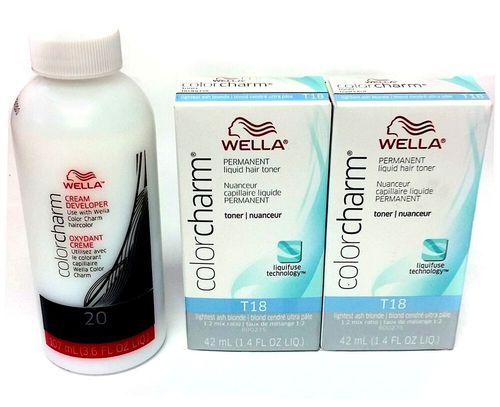 Wella Color Charm T18 Lightest Ash Blonde 2 Pack With 20