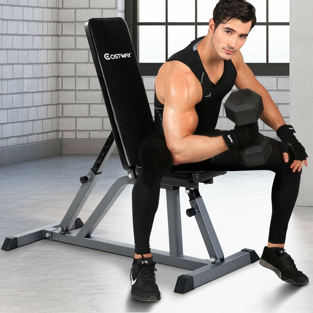 Adjustable folding sit up ab incline abs bench gym home fitness weight workout ebay Abs bench