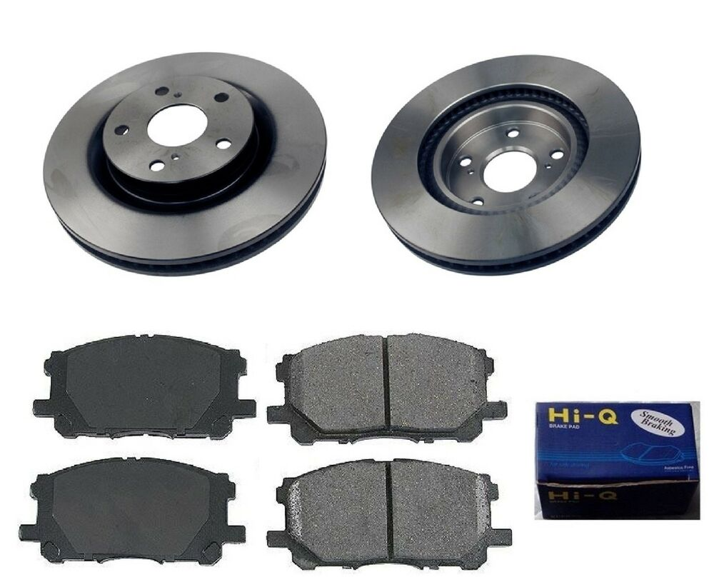 front ceramic brake pad set rotor kit for 2008 2014 toyota camry hybrid ebay. Black Bedroom Furniture Sets. Home Design Ideas