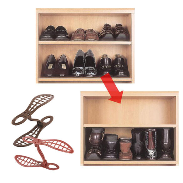 1 Pair Household Portable Closet Storage Shoes Rack Organizer Space Saver Holder Ebay