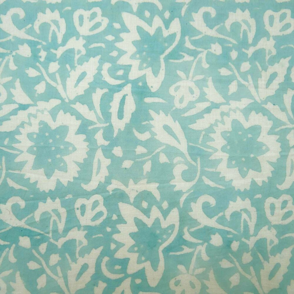 Dressmaking hand block print indian cotton voile fabric for Dressmaking fabric