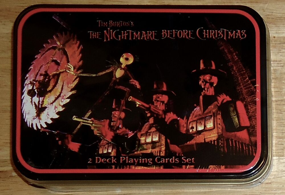 THE NIGHTMARE BEFORE CHRISTMAS 2 DECK Playing Cards with COLLECTIBLE ...
