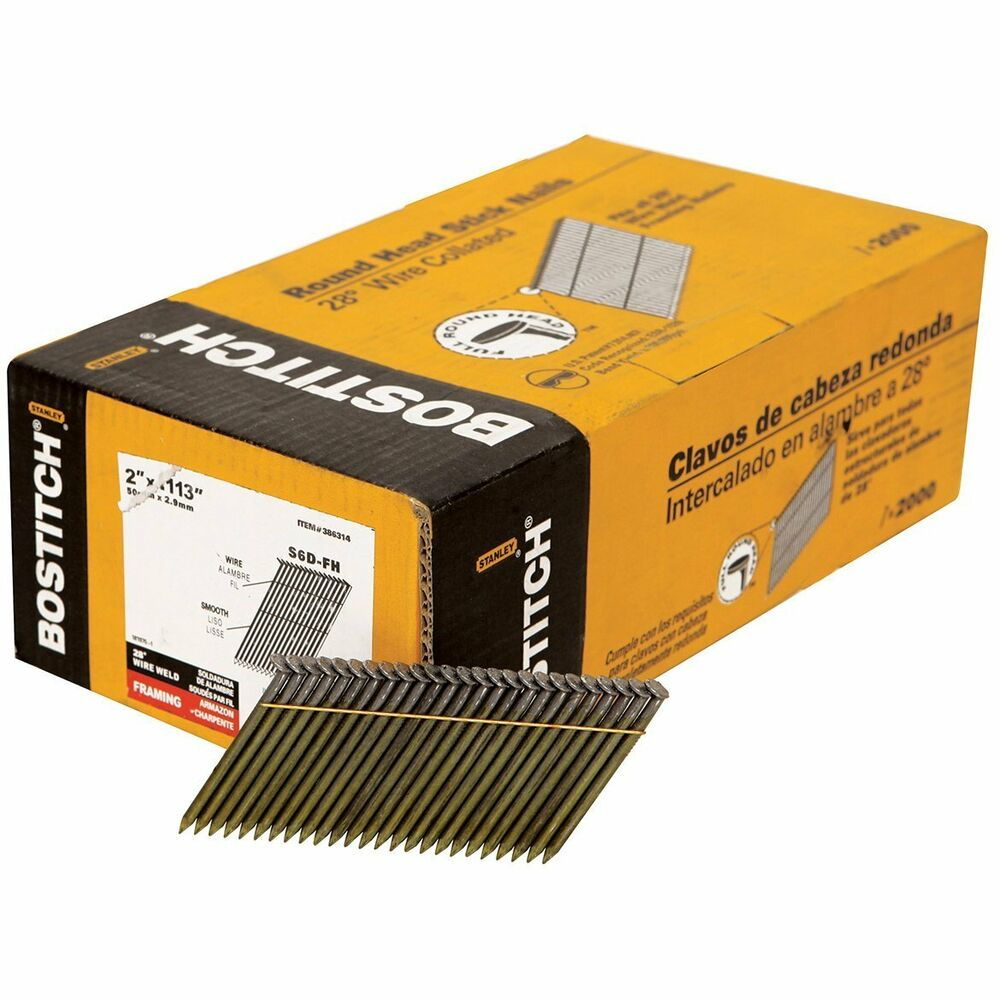 Bostitch S6d Fh 2 X 113 Quot 28 Degree Wire Weld Framing