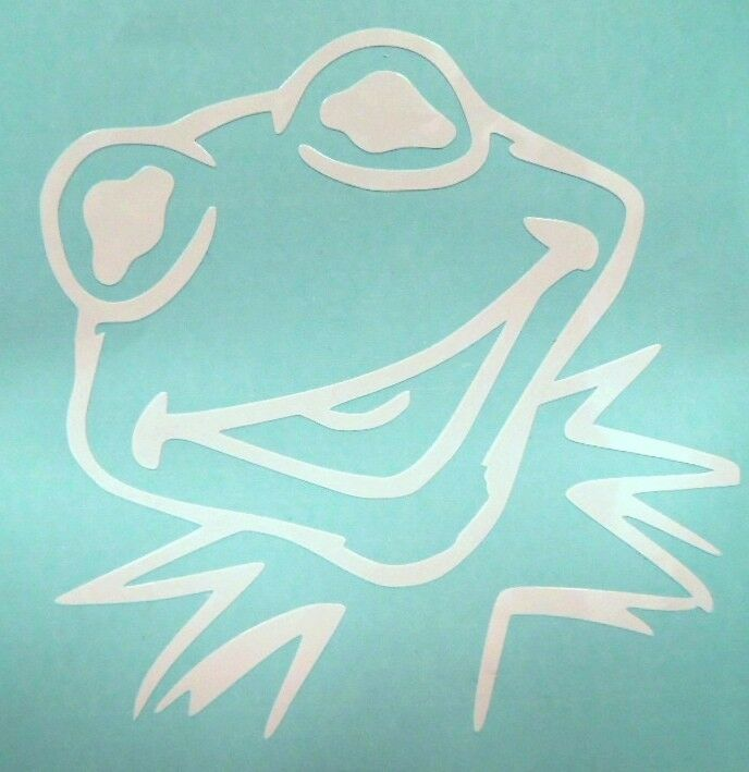 Kermit the frog muppets cool car window vinyl decal for Getting stickers off glass