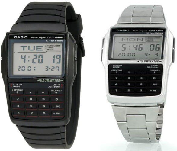 Casio Men's 25-Page Databank 8-Digit Calculator With LED
