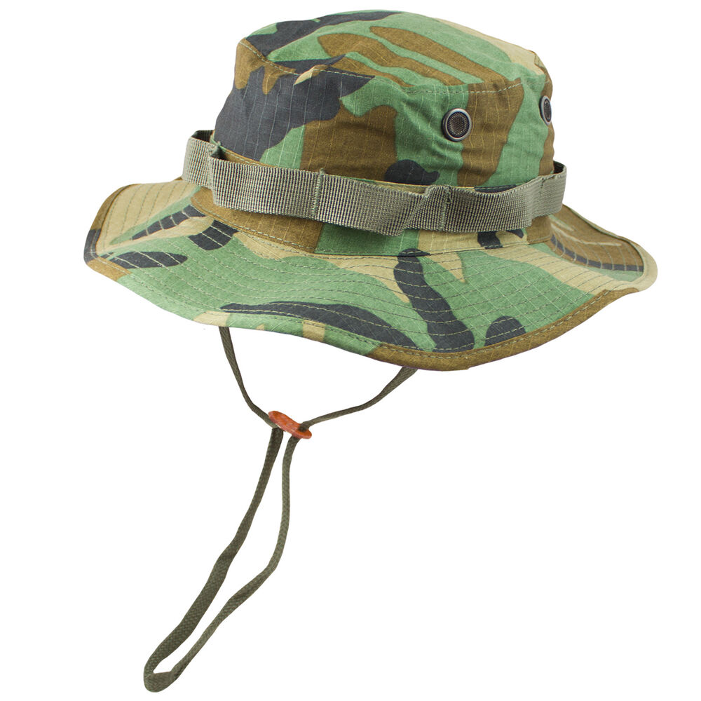 20e4102a Details about Mil-Tec Classic US Army Military GI Style Bush Sun Boonie Hat  Woodland Camo NEW
