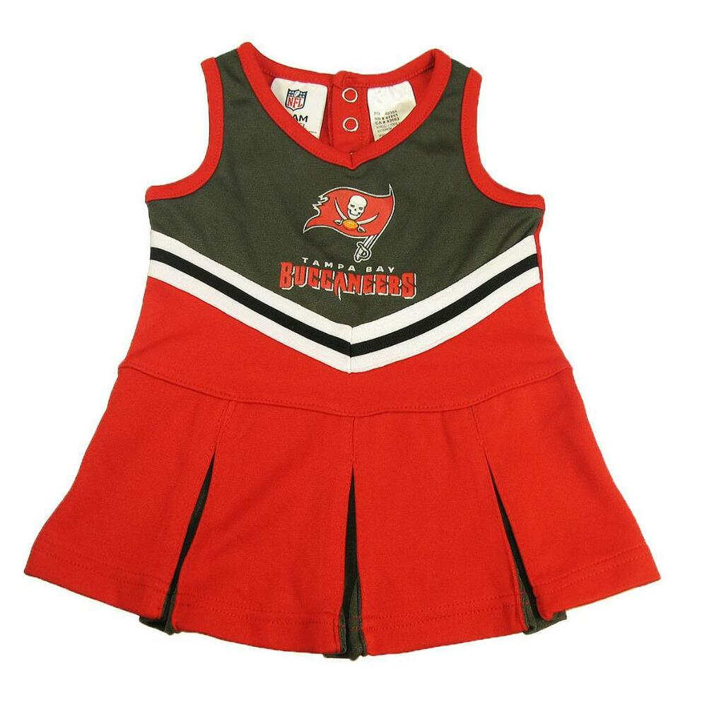 b420dfa7a Details about New NFL Tampa Bay Buccaneers Infant Girls Cheerleader Dress  Sizes 0-3 6-18 Month