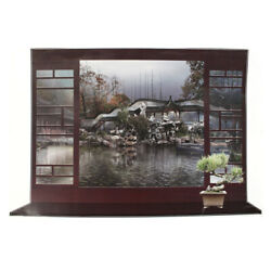 Home 3D Effect Fake Window Chinese Landscape Pattern Wall Sticker Decal