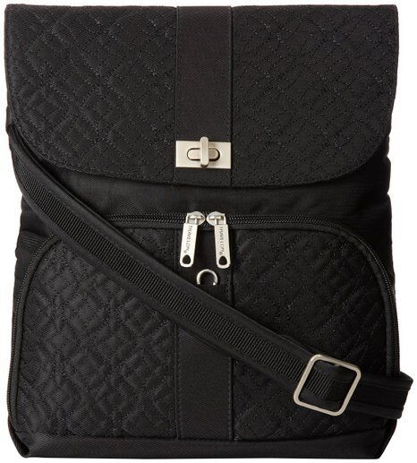 Travelon Anti Theft Flap Front Cross Body Bag Shoulder One