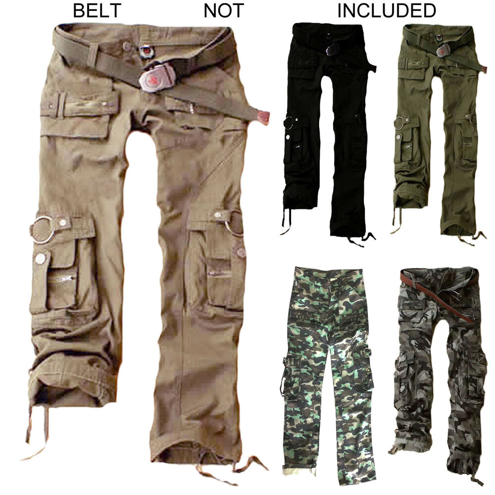womens trousers army military ladies casual cargo pants. Black Bedroom Furniture Sets. Home Design Ideas