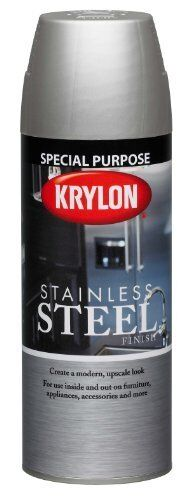 k02400000 stainless steel finish aerosol spray paint 11 ounce ebay. Black Bedroom Furniture Sets. Home Design Ideas