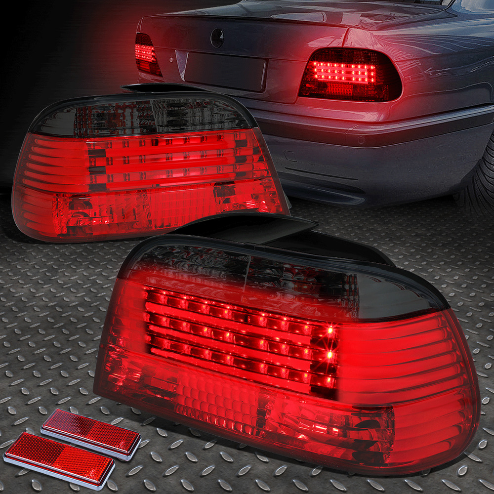 Smoked Housing Red Led Rear Brake Signal Tail Light For 95 01 Bmw E38 7 Series Ebay
