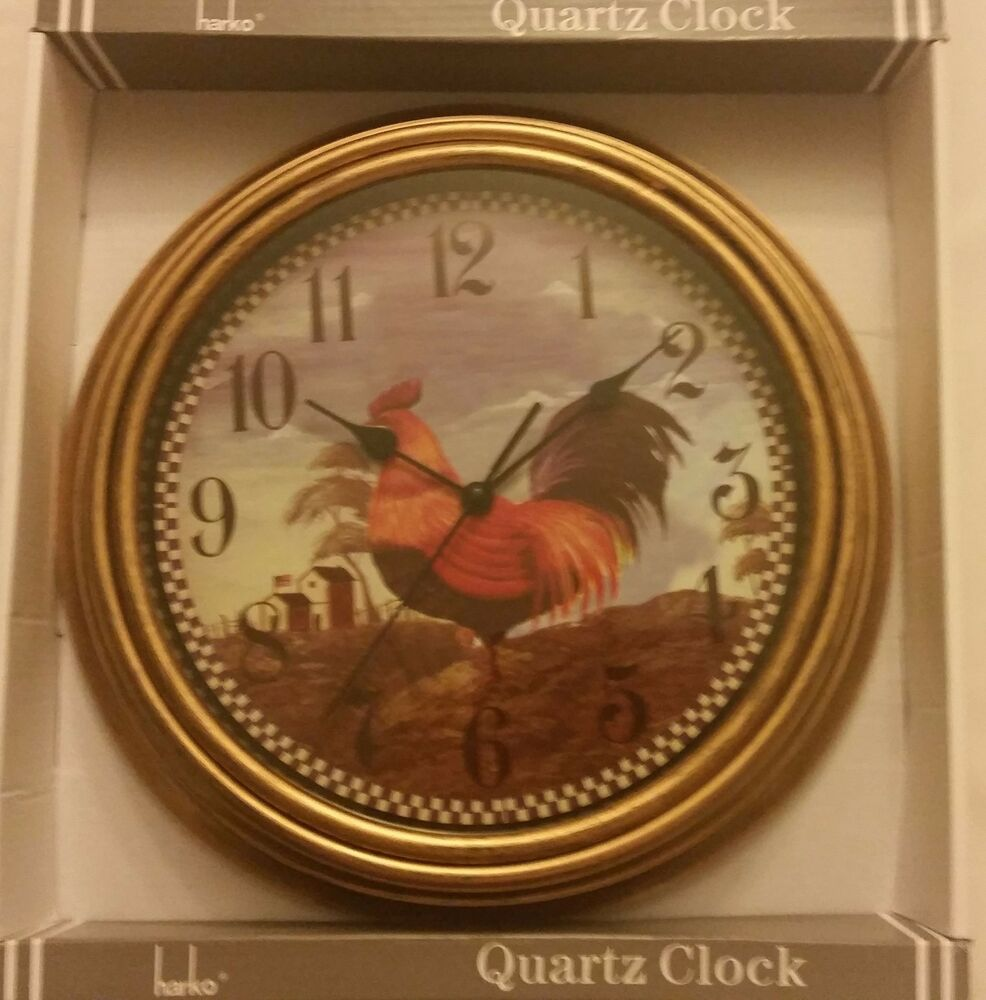 Rare Kitchen Decor Wall Clock, Chicken / Rooster On The