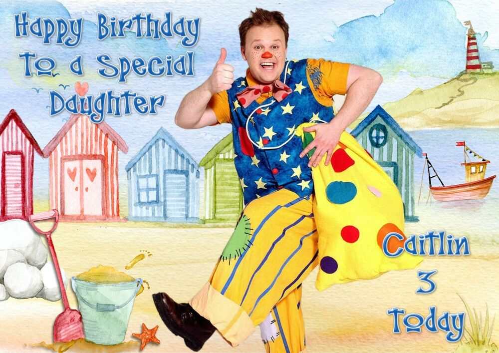 personalised birthday card mr tumble grandaughter daughter – Mr Tumble Birthday Card