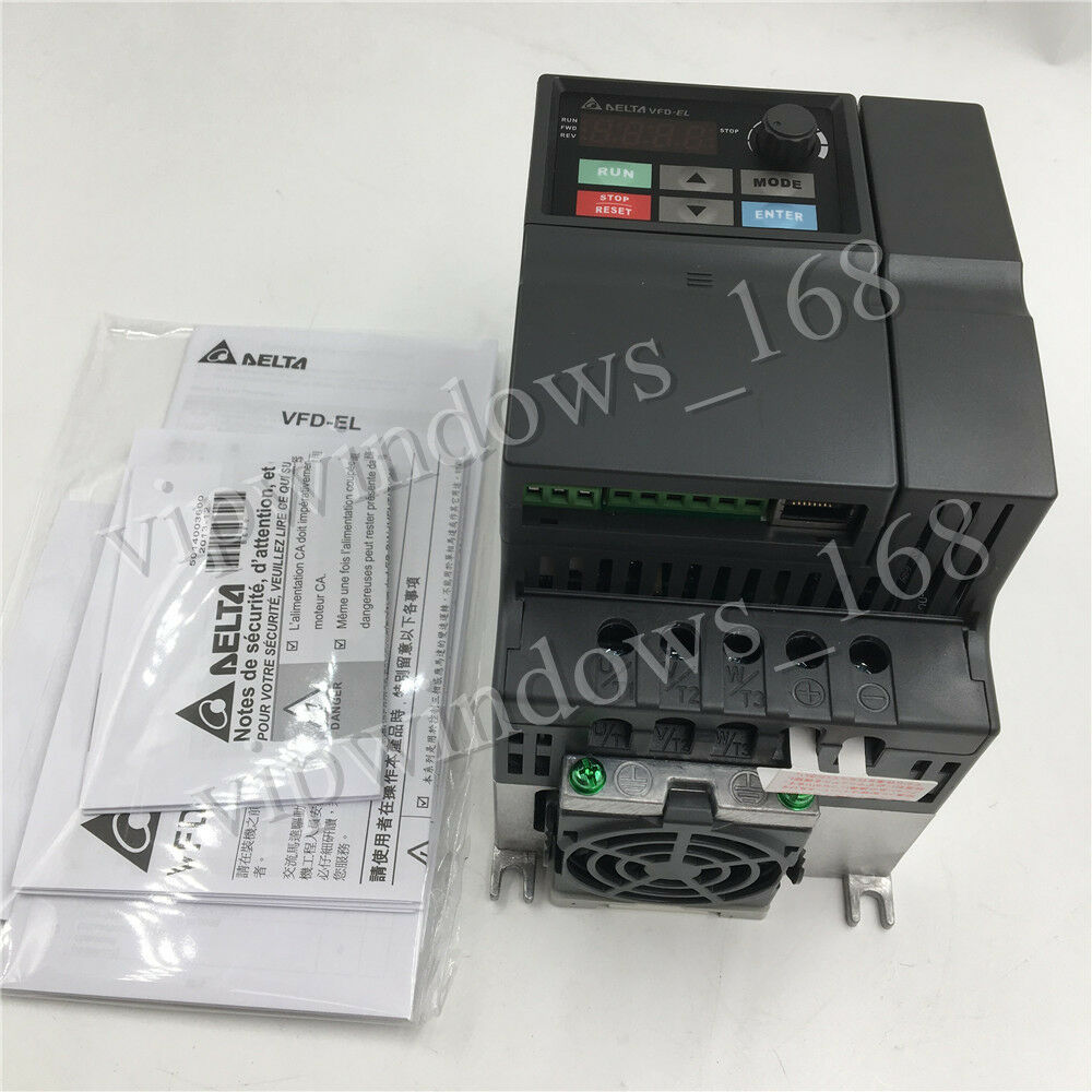 3hp 22kw Delta Vfd Inverter 220v 3ph Vfd022el21a Variable Frequency 3 Wire Phase To Wiring Diagram Driver Cnc Ebay