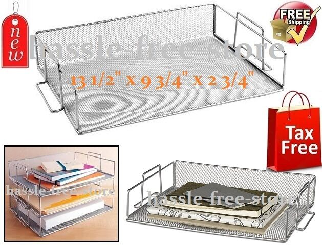desk paper organizer design ideas single tray stackable paper letter office 14687