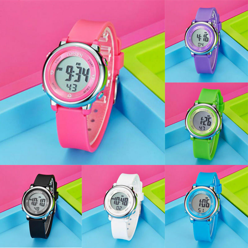 Confident Children Watch Led Sports Kids Watches Men Women Pu Electronic Digital Clock Bracelet Wristwatches For Boys And Girls Reloj Nino Watches