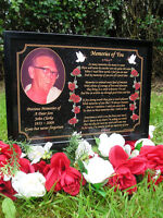 PERSONALISED A5 SIZE MEMORIAL SYMPATHY BEREAVEMENT GRAVE PLAQUE - SON