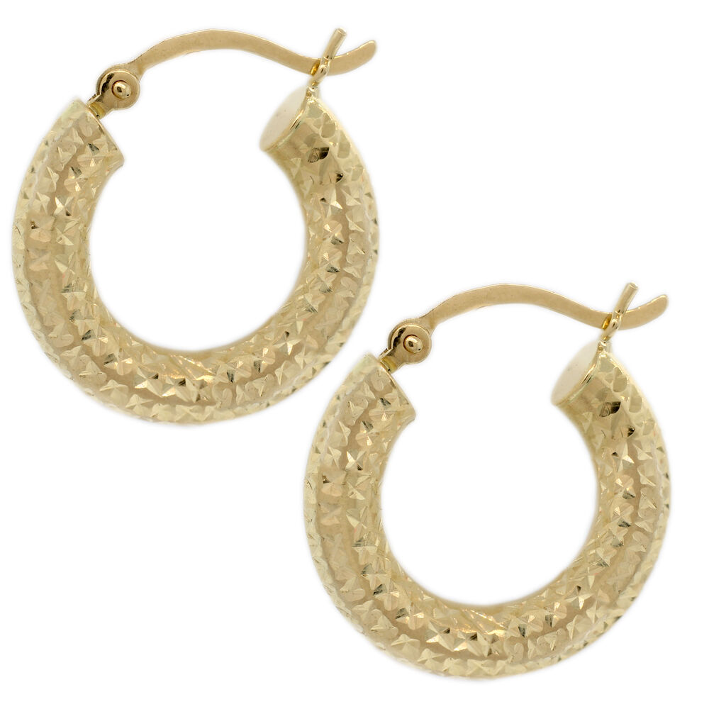 3 inch gold hoop earrings gold hoops earring 14k yellow gold 3 4 quot inch hoops with 8209