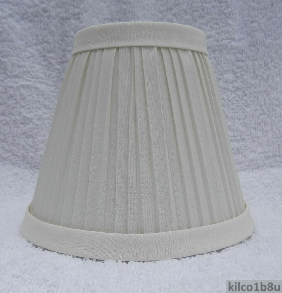 five 5 new ivory pleated fabric chandelier lamp shade traditional any room ebay. Black Bedroom Furniture Sets. Home Design Ideas