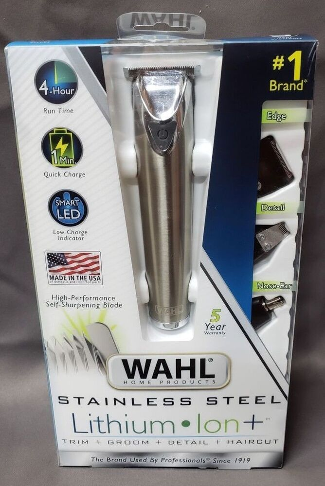 Wahl 9818 Lithium Ion Stainless Steel All In One Groomer