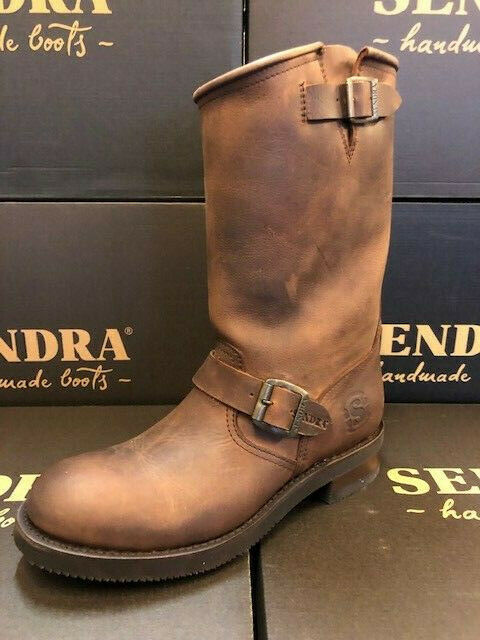 1ec08add90 Details about Sendra Boots Style 2944 Brown Leather Western Cowboy Biker  Boots