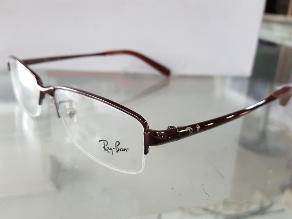 Rimless Transition Glasses : Orignal Ray Ban RB6185 2511 Half Rimless TRANSITIONS ...