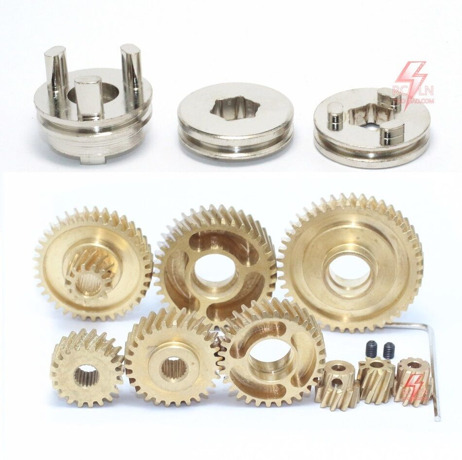 Old Tractor Transmission Gears : Full metal transmission gears for all tamiya scania