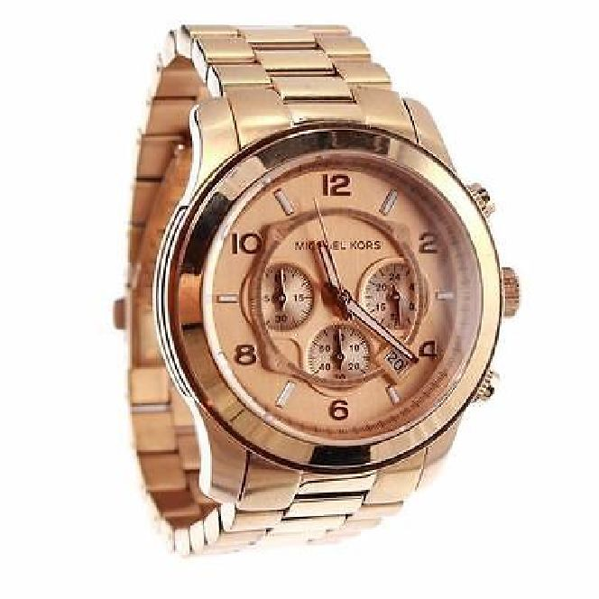 michael kors mk8096 runway rose gold oversized chronograph. Black Bedroom Furniture Sets. Home Design Ideas