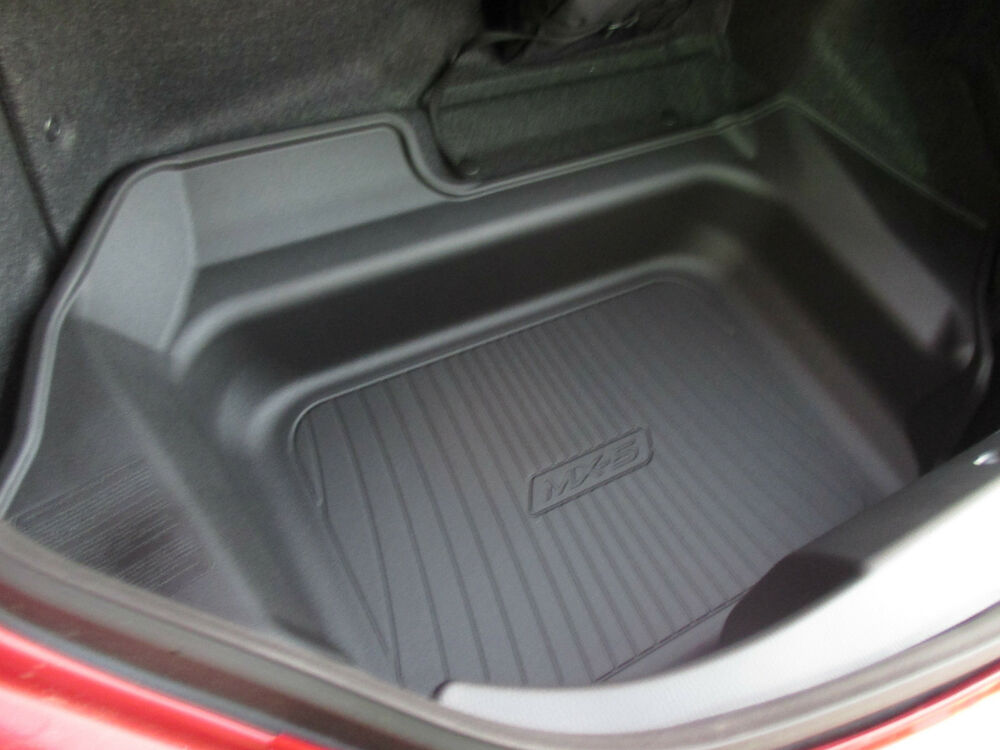 new oem mazda mx 5 miata 2016 black rubber cargo tray 0000 8b d31 ebay. Black Bedroom Furniture Sets. Home Design Ideas