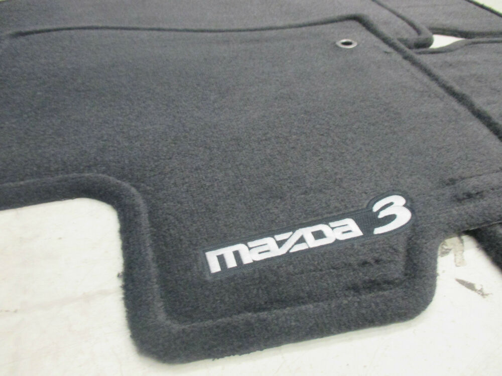 Mazda 3 2004 2009 New Oem Black Carpeted Set Of 4 Floor Mats 0000 8b L03b 02 Ebay